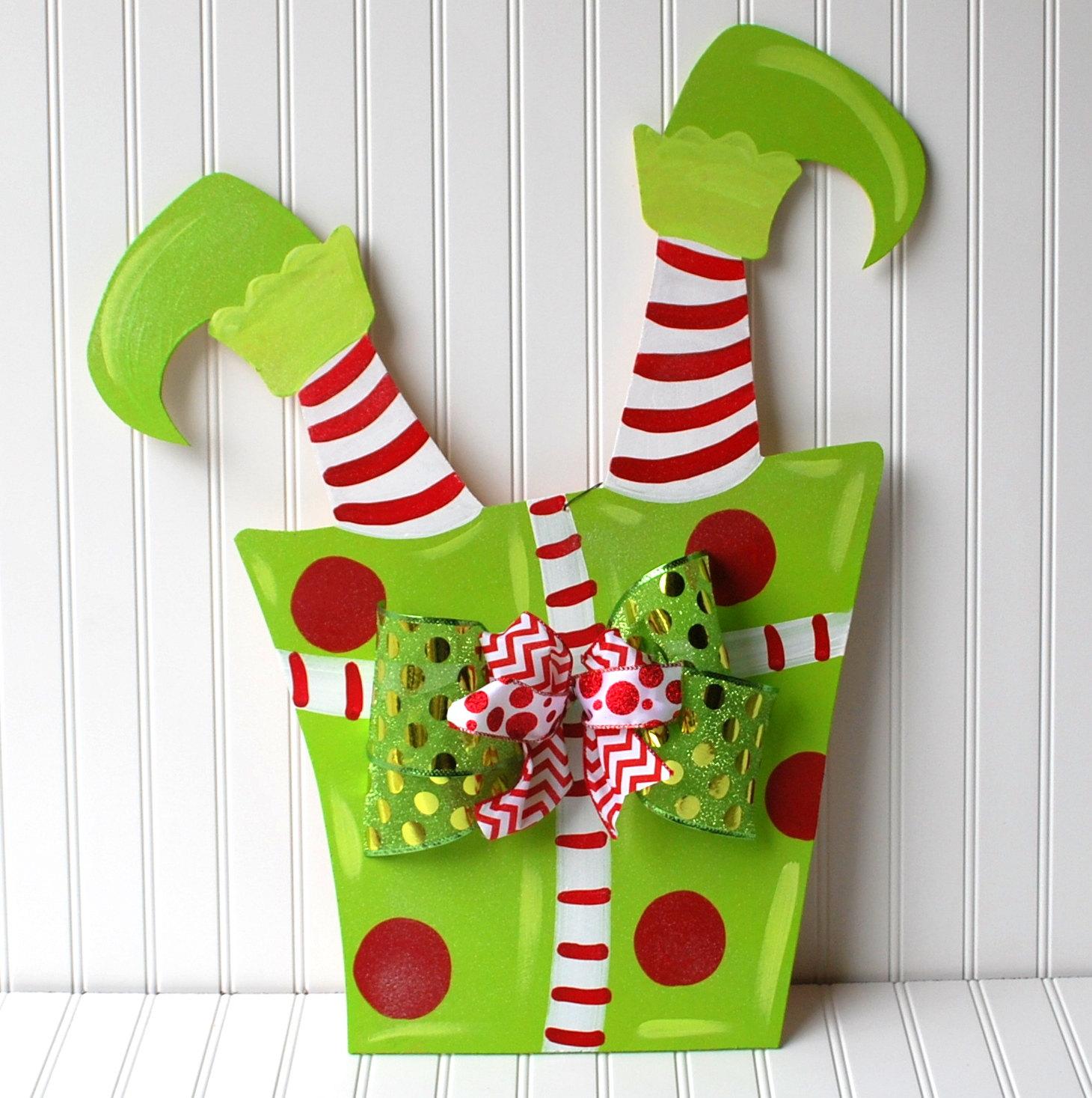 Elfen clipart holiday hat Holiday Wreath Elf Wreath Wreath