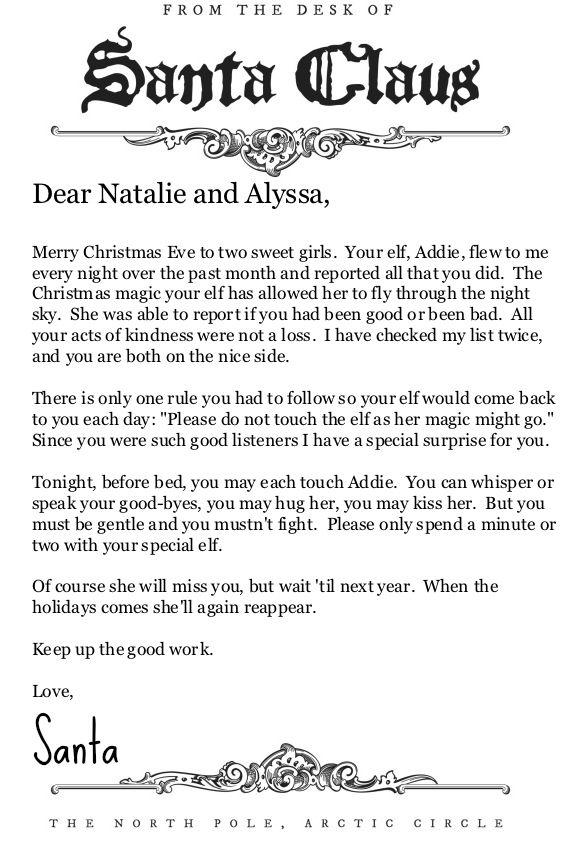 Elfen clipart letterhead Elf From Santa best Pinterest