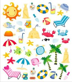 Floating clipart beach theme Under the & clip At