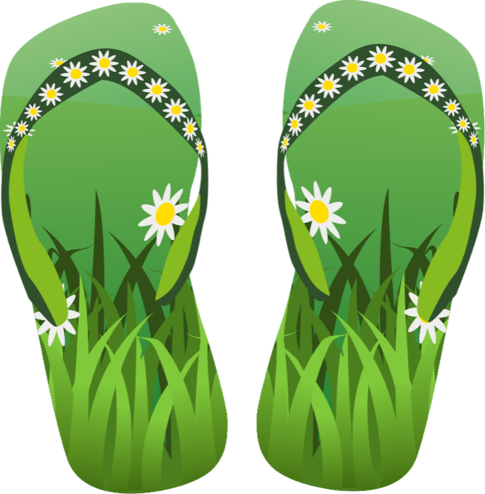 Sandal clipart july summer #2