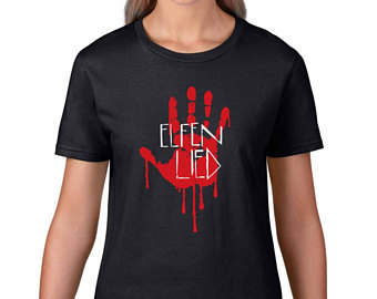 Elfen clipart shirt Bloody handprint Lied and Lucy's
