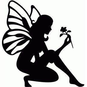 Elfen clipart short Silhouette fairy free garden Silhouettes