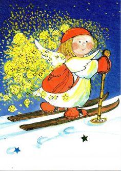Elfen clipart skiing гномочки и  гномы Virpi