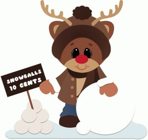 Elfen clipart snowball About Silhouette best christmas/winter Store