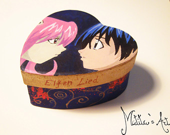 Elfen clipart the box Etsy Box boxes / painted