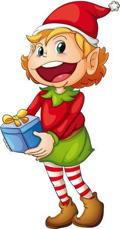 Elfen clipart two GraphicsChristmas Ilustración GIFS TUBES Navidad
