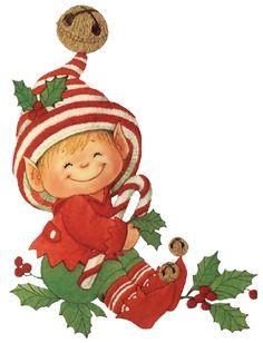 Elfen clipart xmas Navidad Christmas un du de