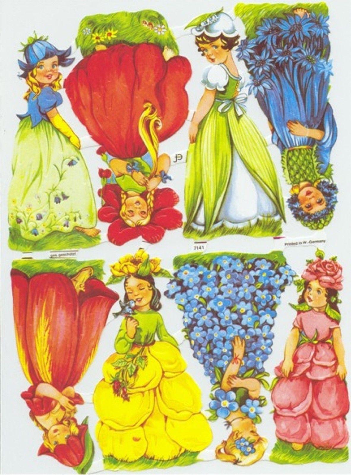 Elfen clipart yellow Märchen Lackbilder süß Glanzbilder Lackbilder