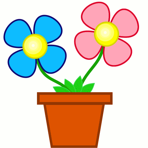 Floral clipart small flower Floral Flowers Free Potted Clipart
