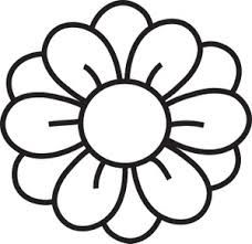 Red Flower clipart outline #7