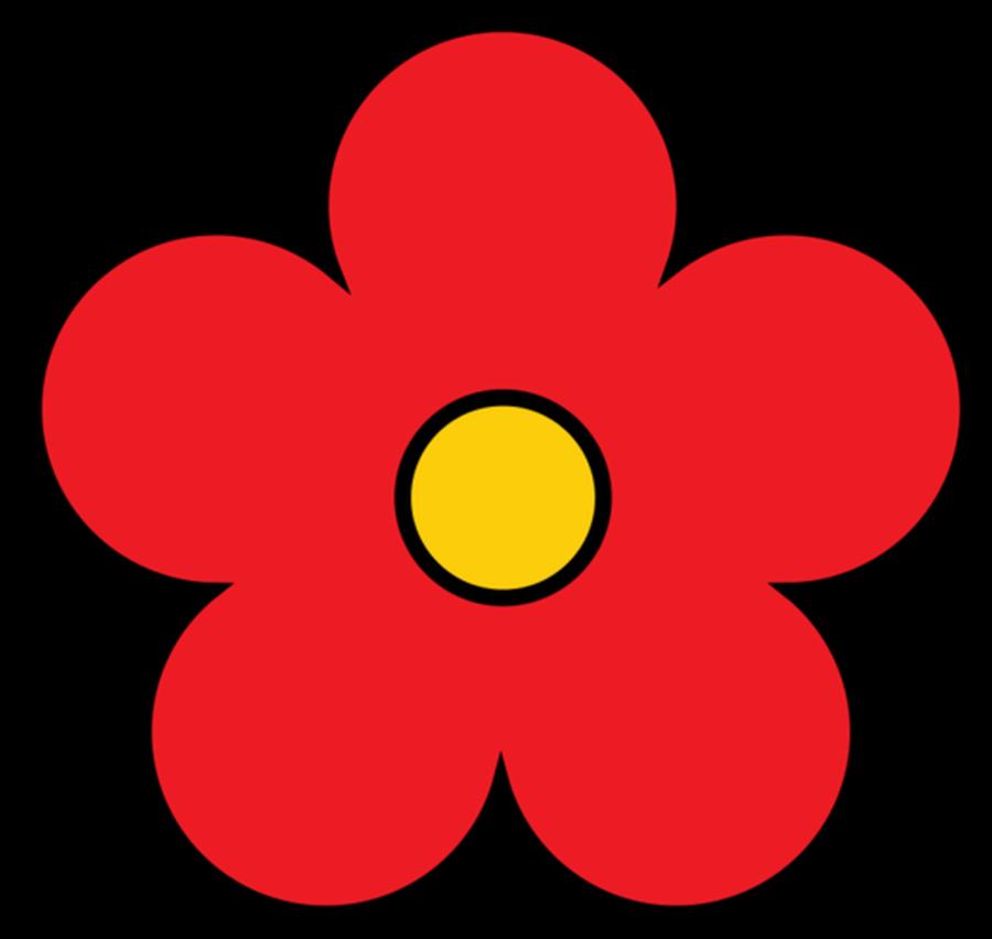 Elower clipart Flower Flower pretty Free red