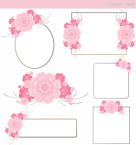 Blossom clipart frame Cliparts Free Flower Download