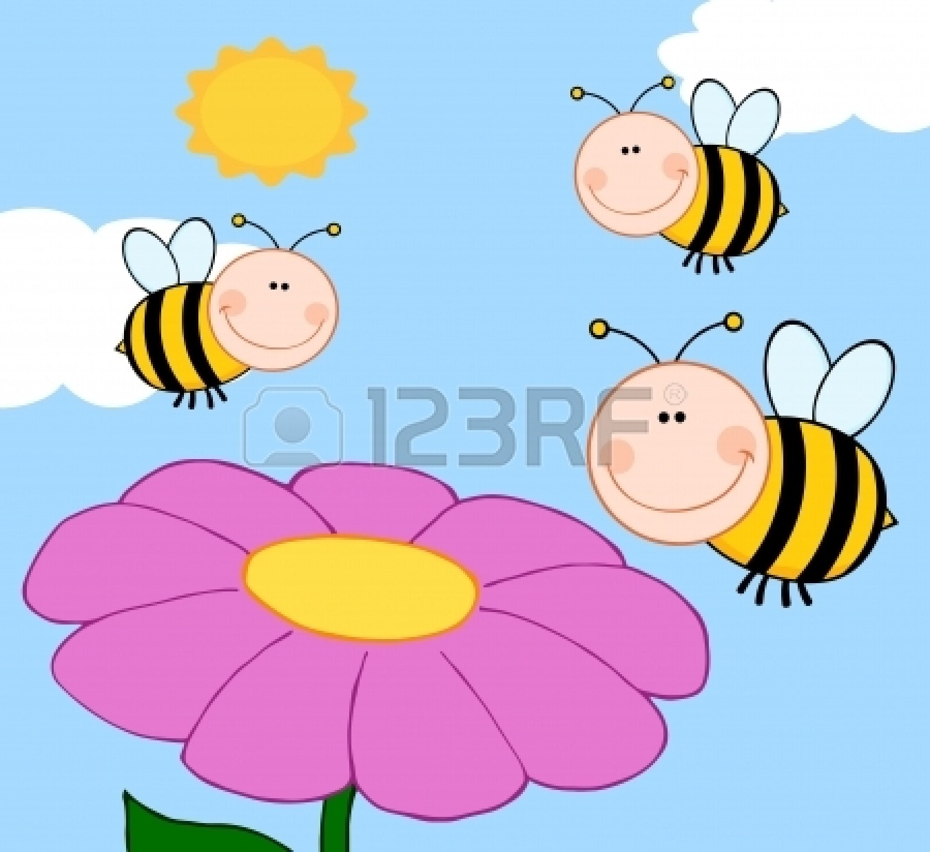 Bees clipart bee flower Flower Bee bee%20and%20flower%20drawing Panda And