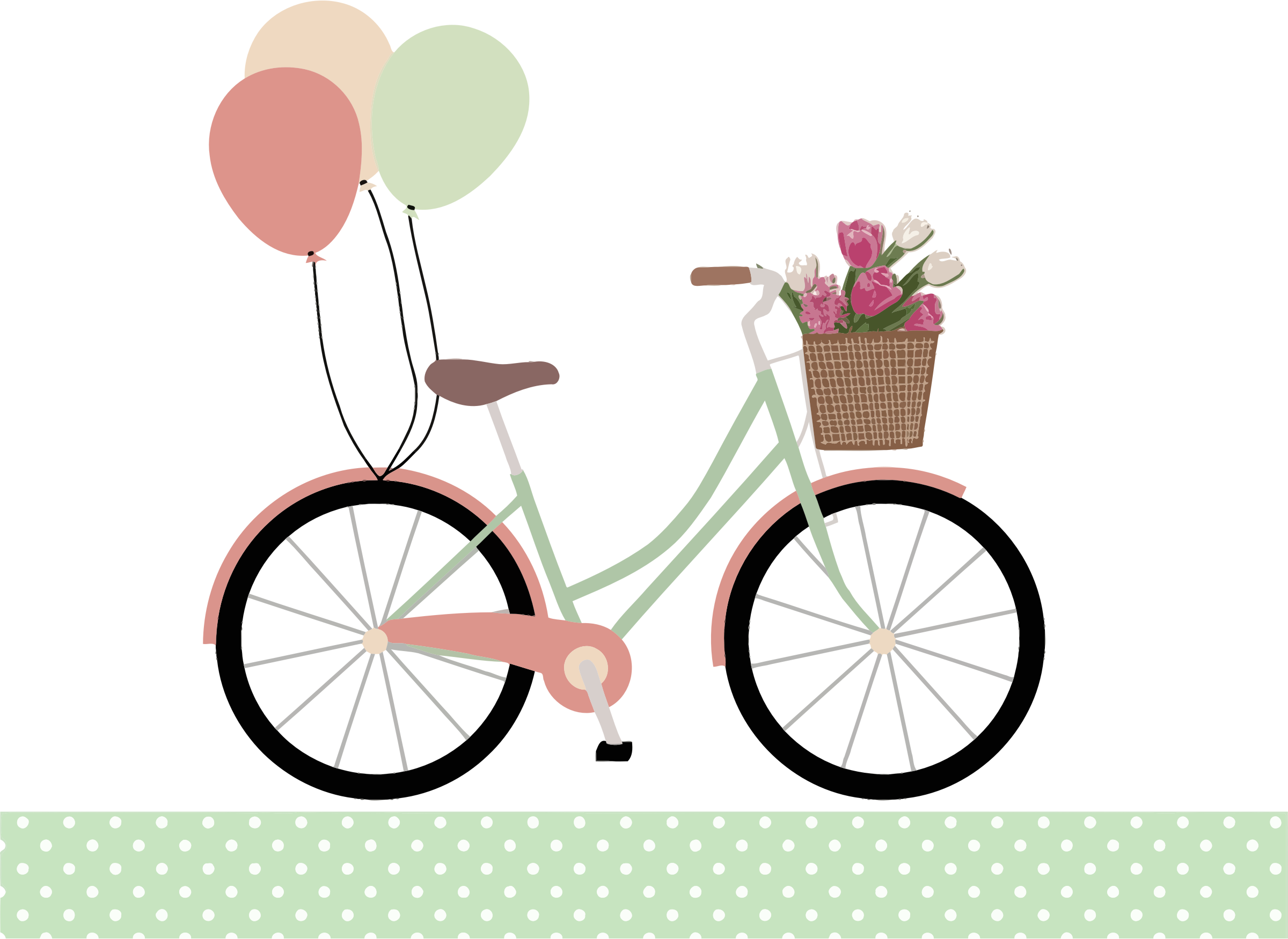 Balloon clipart bicycle With Balloons Clipart Bicycle With