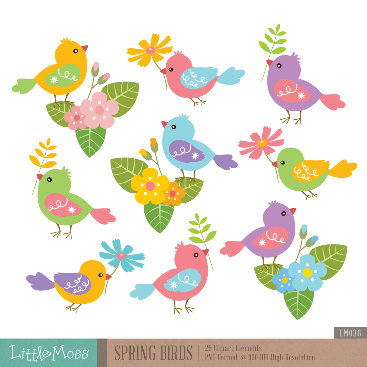 Bird clipart spring bird Clipart Spring Clipart from file