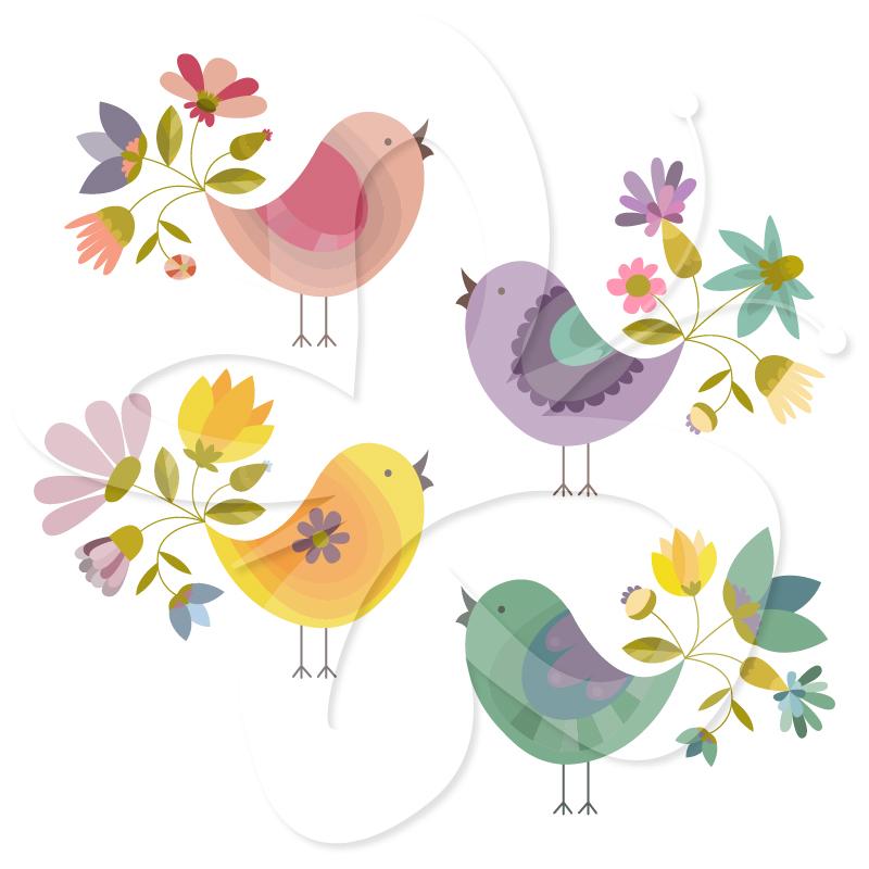 Brds clipart free bird Creative 01 Flower Clipart Clipart