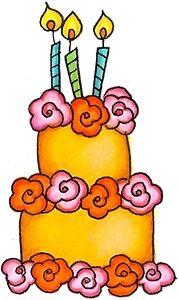 Orange Flower clipart happy birthday flower Birthday Cake Birthday collection Clipart
