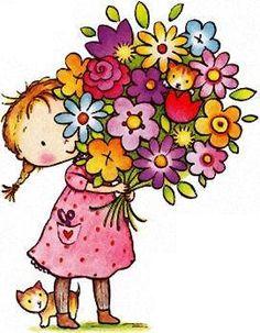 Beautiful clipart birthday flower With palavra semente fostes semente