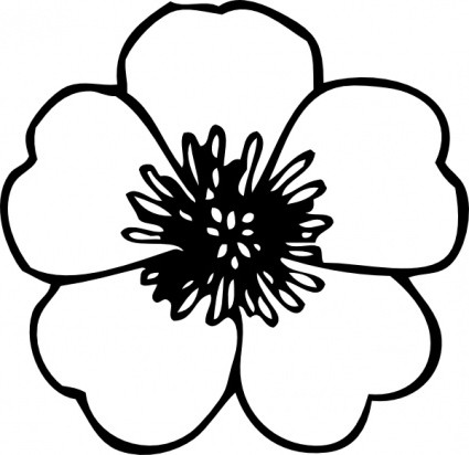 Buttercup clipart black and white Clip Clip Flowers Clipart Free