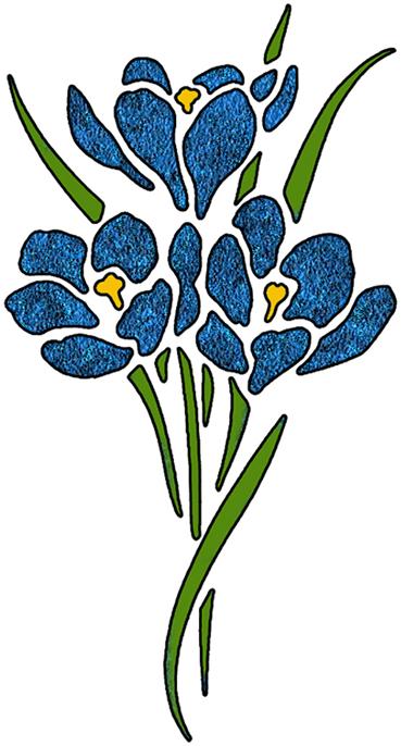 Simple clipart blue flower #5
