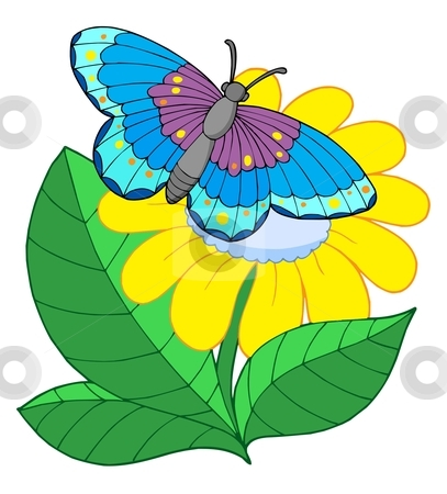 Tulip clipart butterfly #2