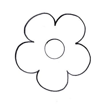 Elower clipart cut out Flower Template you must Cut