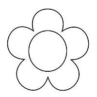 Elower clipart cut out Flower Template cut out Cut