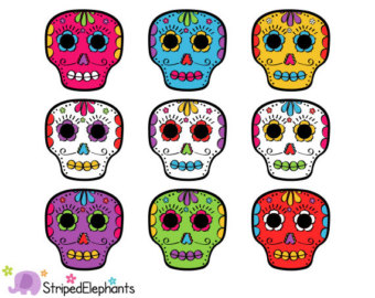 Day Of The Dead clipart skull Clip The of Clipart Flowers