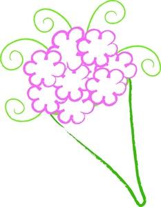 Simple clipart flower bouquet Clipart Clipart Flowers Birthday Panda
