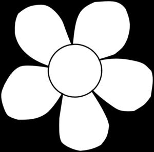 Red Flower clipart outline Clip Flower clip Outline
