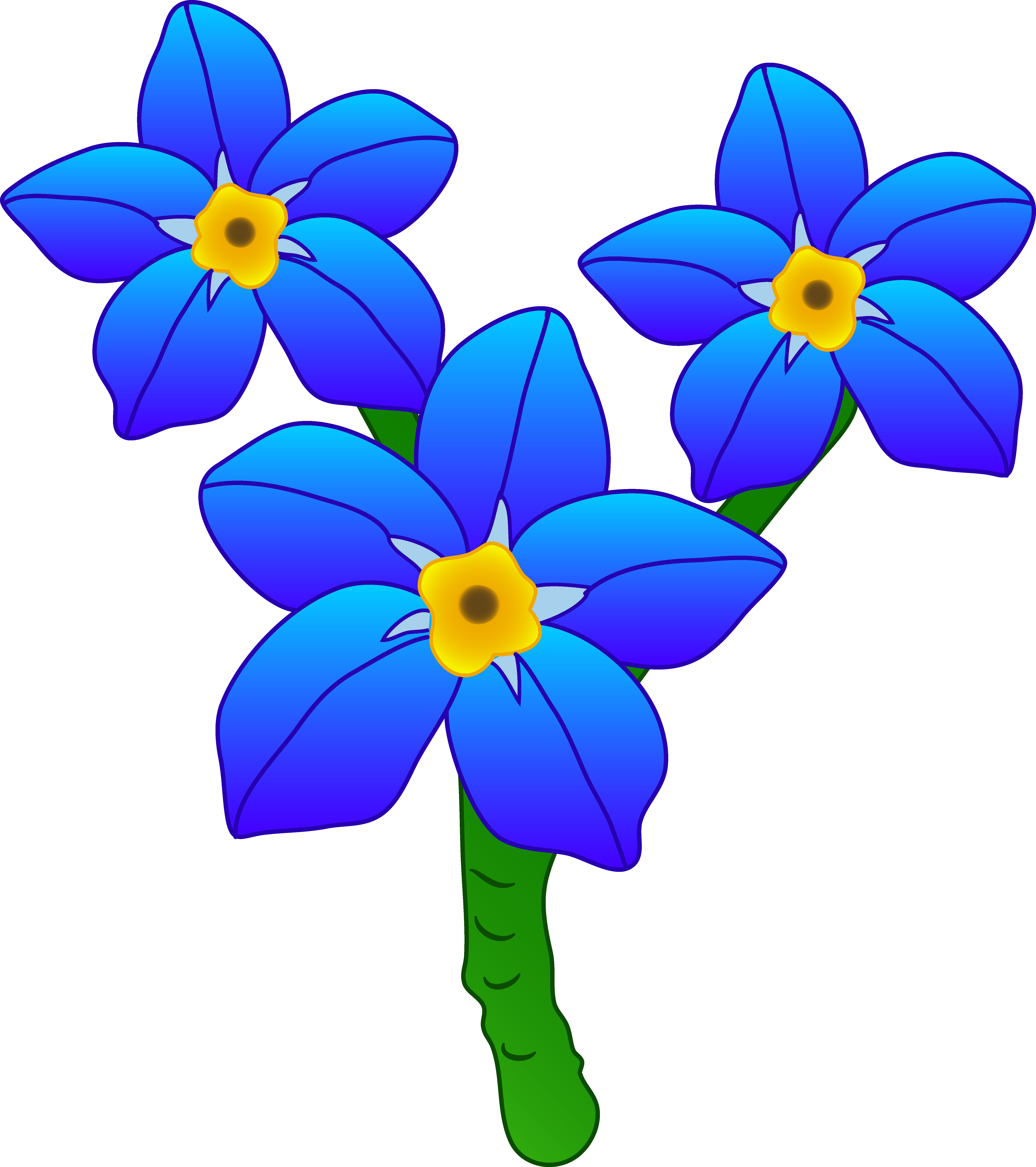 Blue Flower clipart pretty flower Me Me Three Forget Flowers
