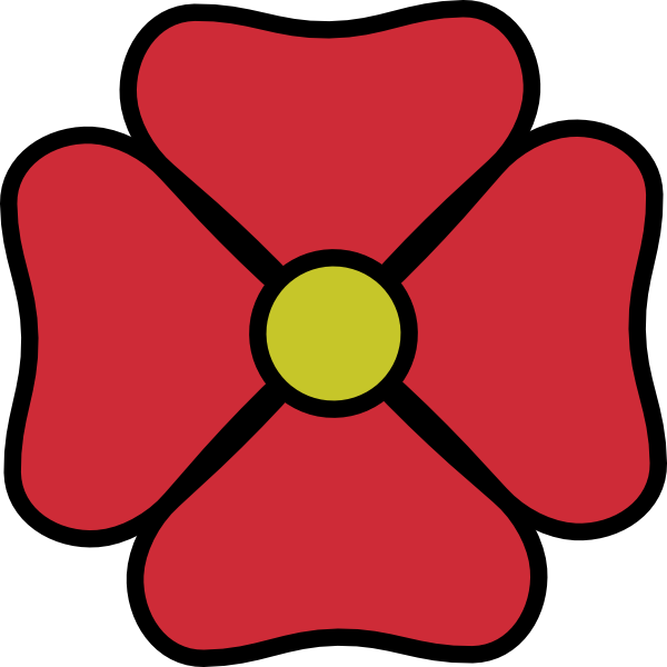 Red Flower clipart catoon #2