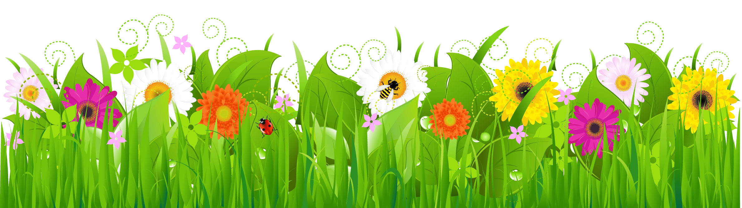 Gallery clipart bee flower Tags: and Gallery Grass PNG