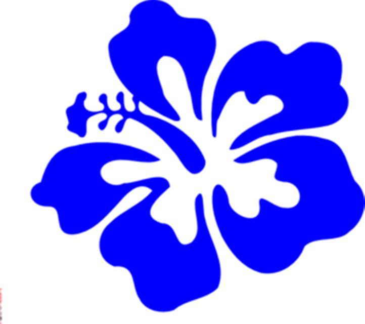 Blue Flower clipart hawaiian graphic Hawaiian Flower Flower Flower Clipart