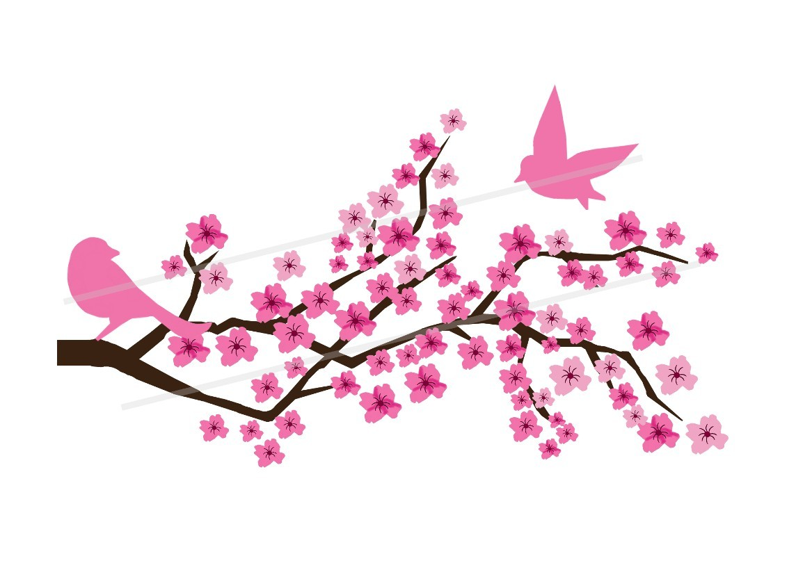 Sakura clipart japanese cherry blossom #8