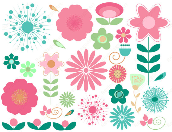 Decoration clipart may flower By  & Aqua Art