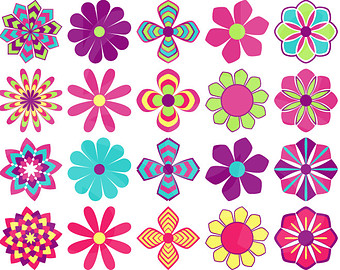 Red Flower clipart groovy #7