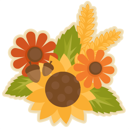 Yellow Flower clipart scrapbook png Fall files silhouette SVG cute