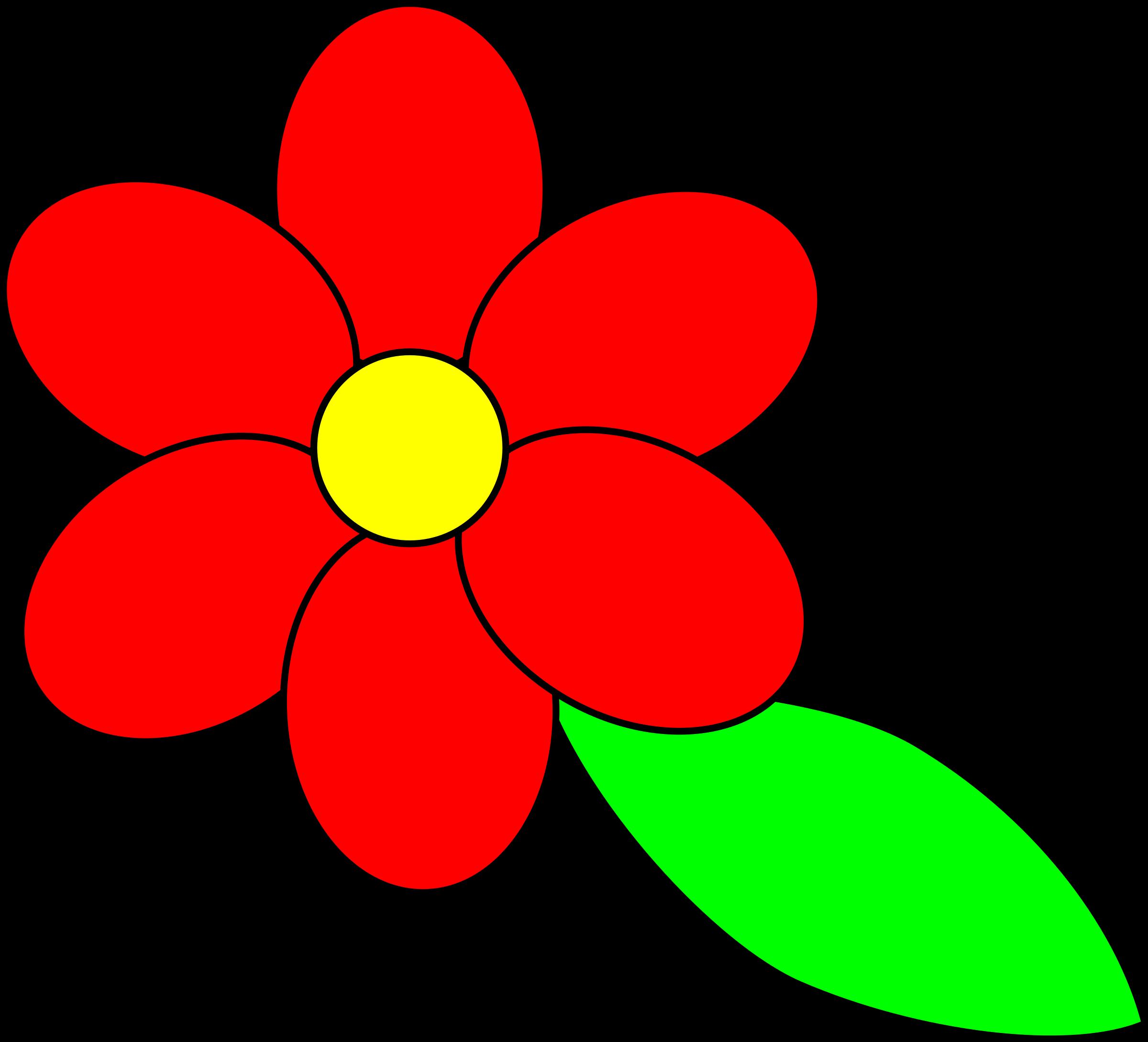 Petal clipart flower leaves Petals outline six Clipart leaf