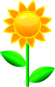 Yellow Flower clipart sunshine Flowers Cliparts Clipart sunshine Zone