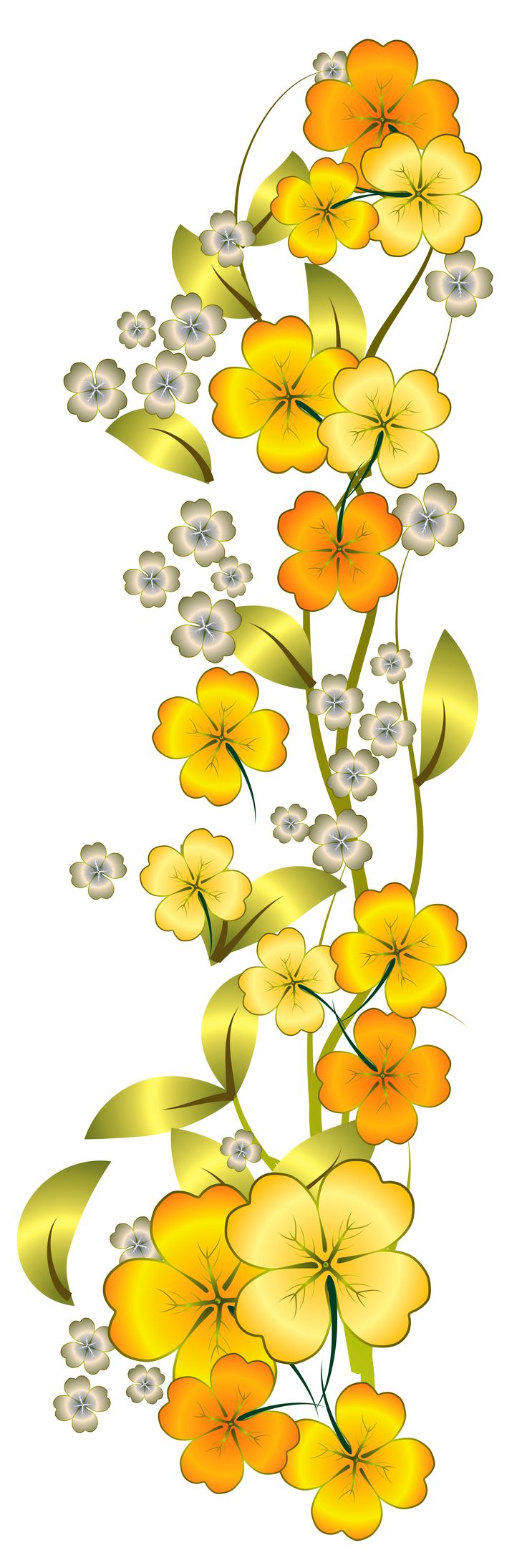 Yellow Flower clipart tall flower PNG images images Yellow Flower