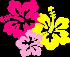 Yellow Flower clipart hibiscus flower Com Pink  art Yellow