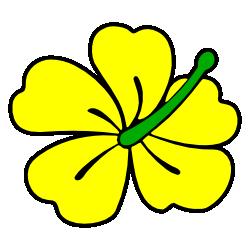 Yellow clipart gumamela Themed Art Clip Borders Free