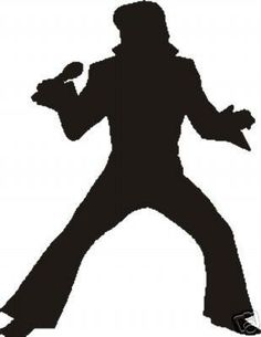 Elvis Presley clipart Presley Drawing of of Silhouette