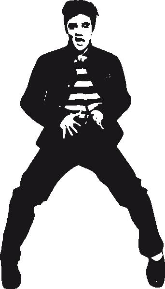 Elvis Presley clipart Vector art Dancing image as: