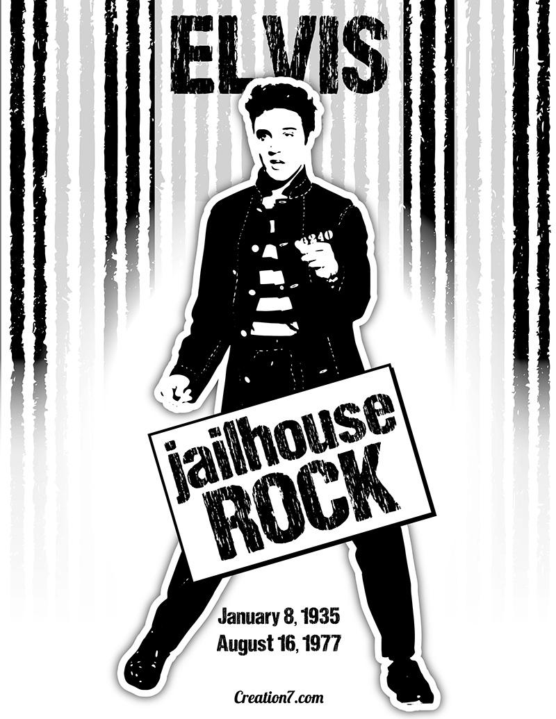Elvis Presley clipart Elvis Jailhouse Rock Silhouette Vector Graphic Art Vector FREE!