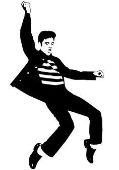 Elvis Presley clipart Elvis Jailhouse Rock Silhouette Silhouette Presley Elvis presley white