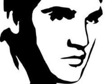 Elvis Presley clipart Elvis Presley Silhouette Silhouette Knit Elvis Crochet pattern
