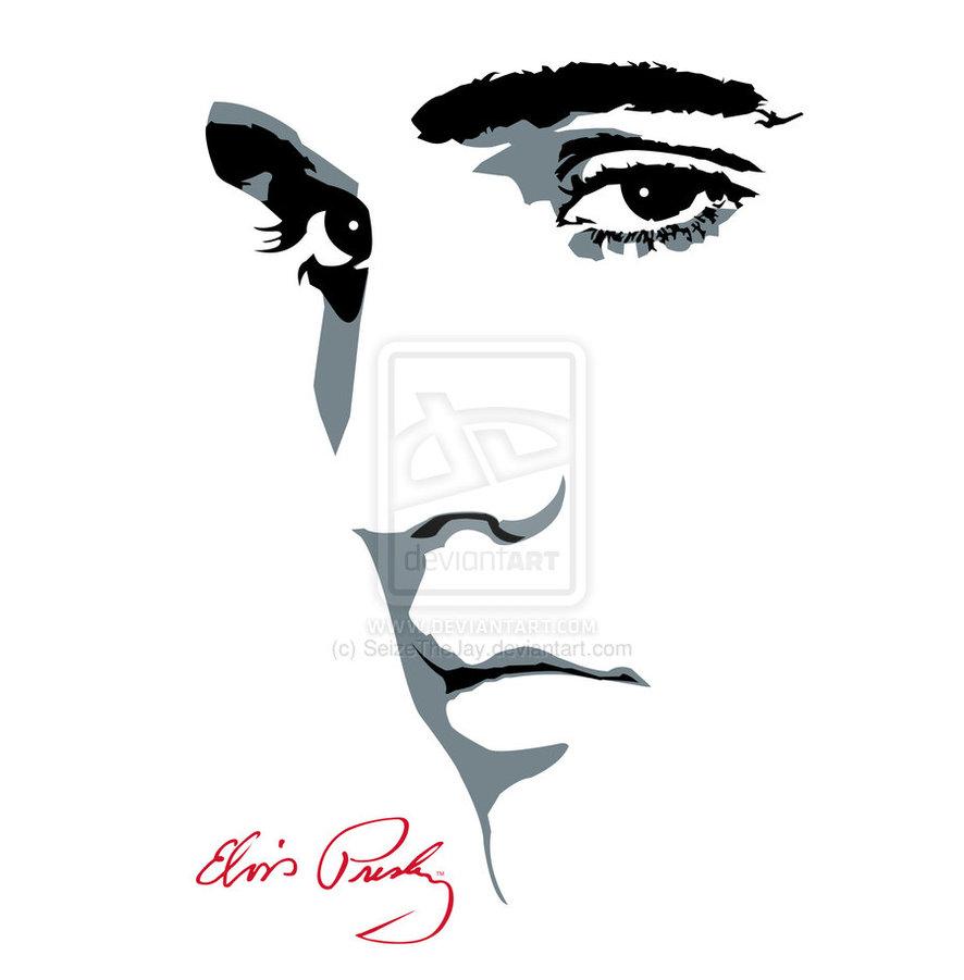 Elvis Presley clipart Elvis Presley Silhouette Silhouette Elvis Presley  Vector