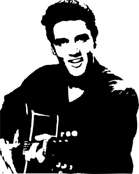 Elvis Presley clipart Elvis Presley Silhouette Elvis on and Pinterest 21